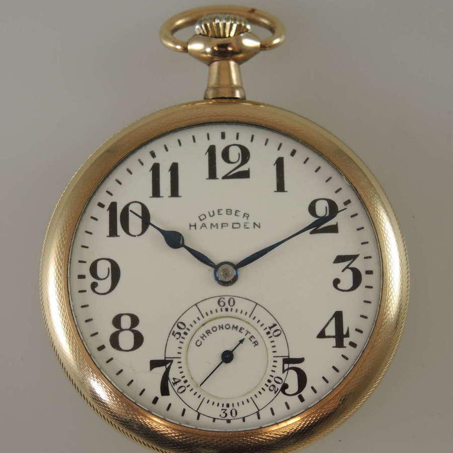 16s 21 Jewel Hampden No 120 pocket watch c1917