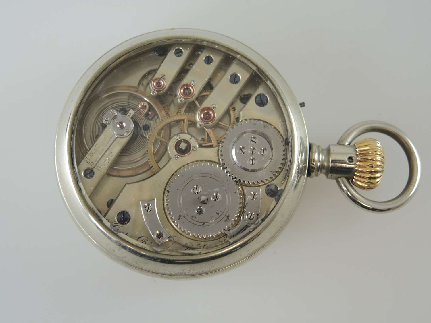 Top quality display case pocket watch by Hry Beguelin c1900