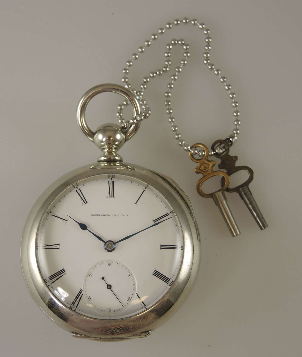 18s private label Elgin pocket watch with pierced watch cock c1873
