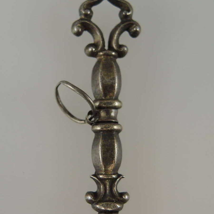 Fancy pocket watch key c1850