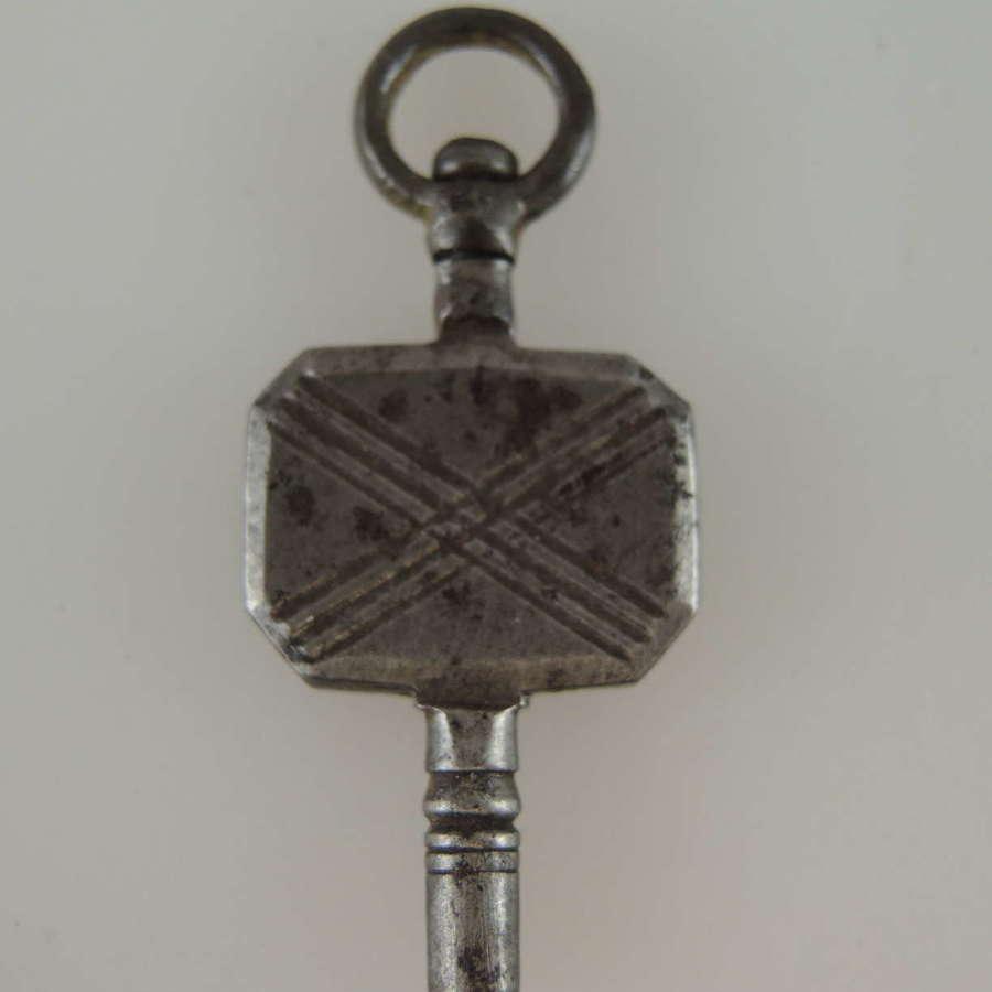 Early Steel pocket watch key c1770