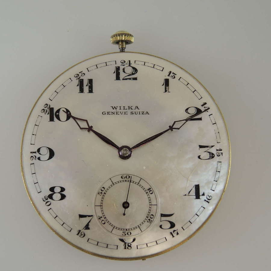 Rare Mother of pearl dial pocket watch movement c1900