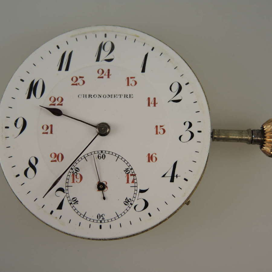 Swiss Chronometer pocket watch movement c1900