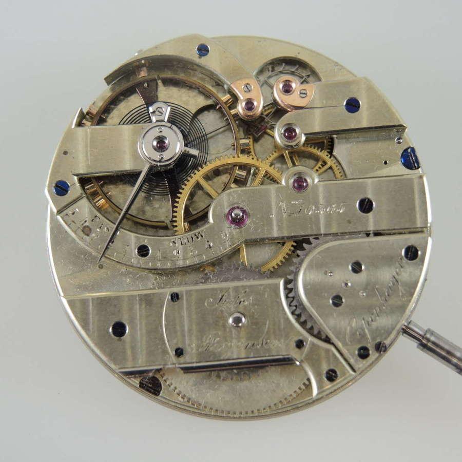 Rare Jules Jurgensen pocket watch movement c1880