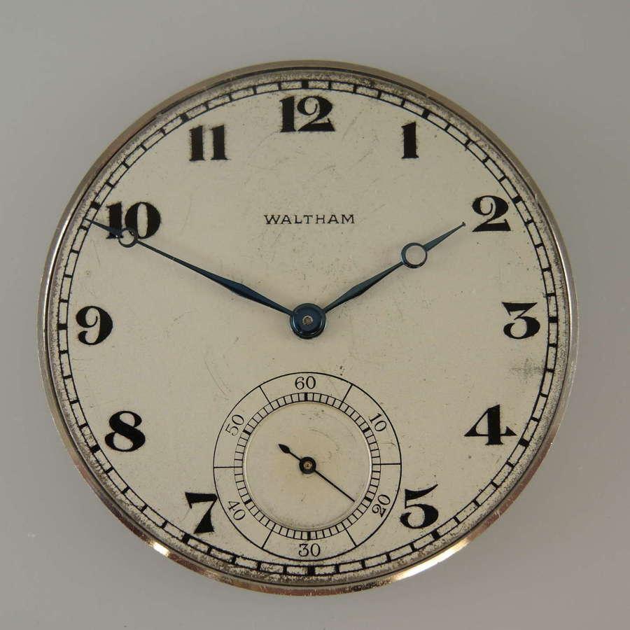 14 size 21 Jewel Waltham Riverside A pocket watch movement c1919