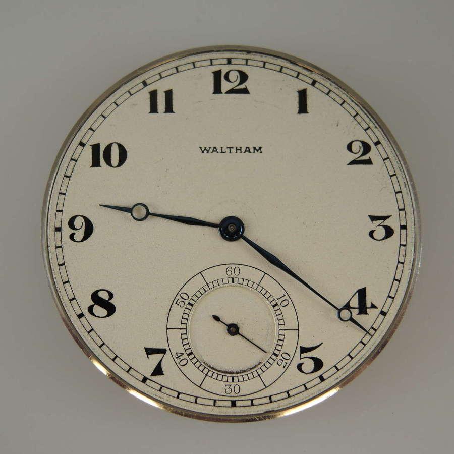 14 size 19 Jewel Waltham Riverside A pocket watch movement c1919