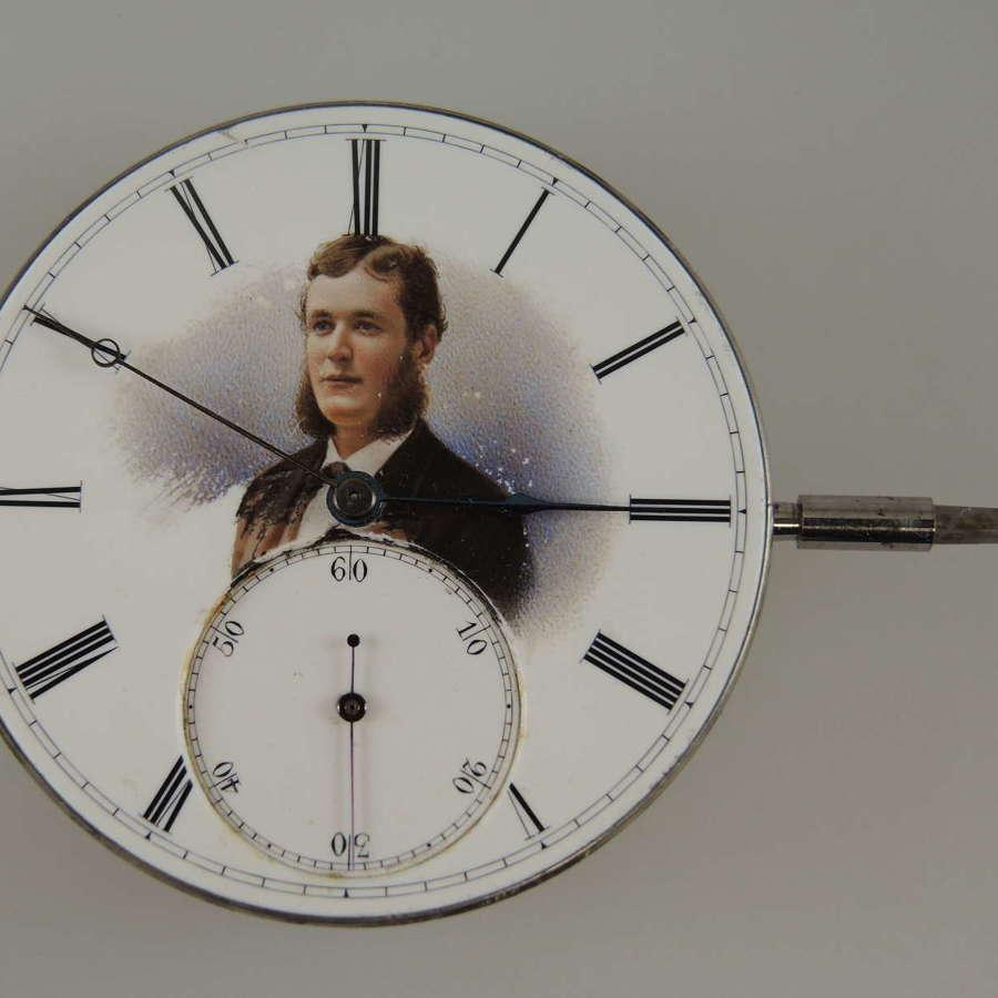 Rare Jules Jurgensen pocket watch movement w/a commissioned dial c1890