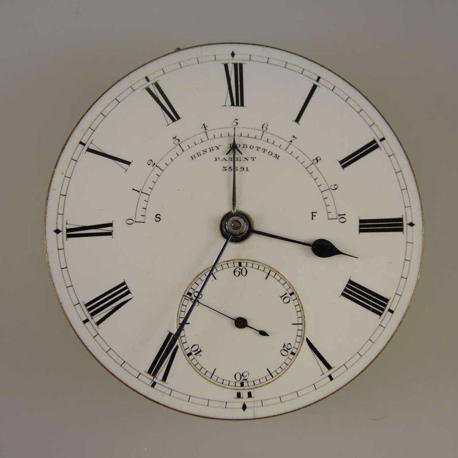 Rare English movement with Henry Rowbottom Patent c1890