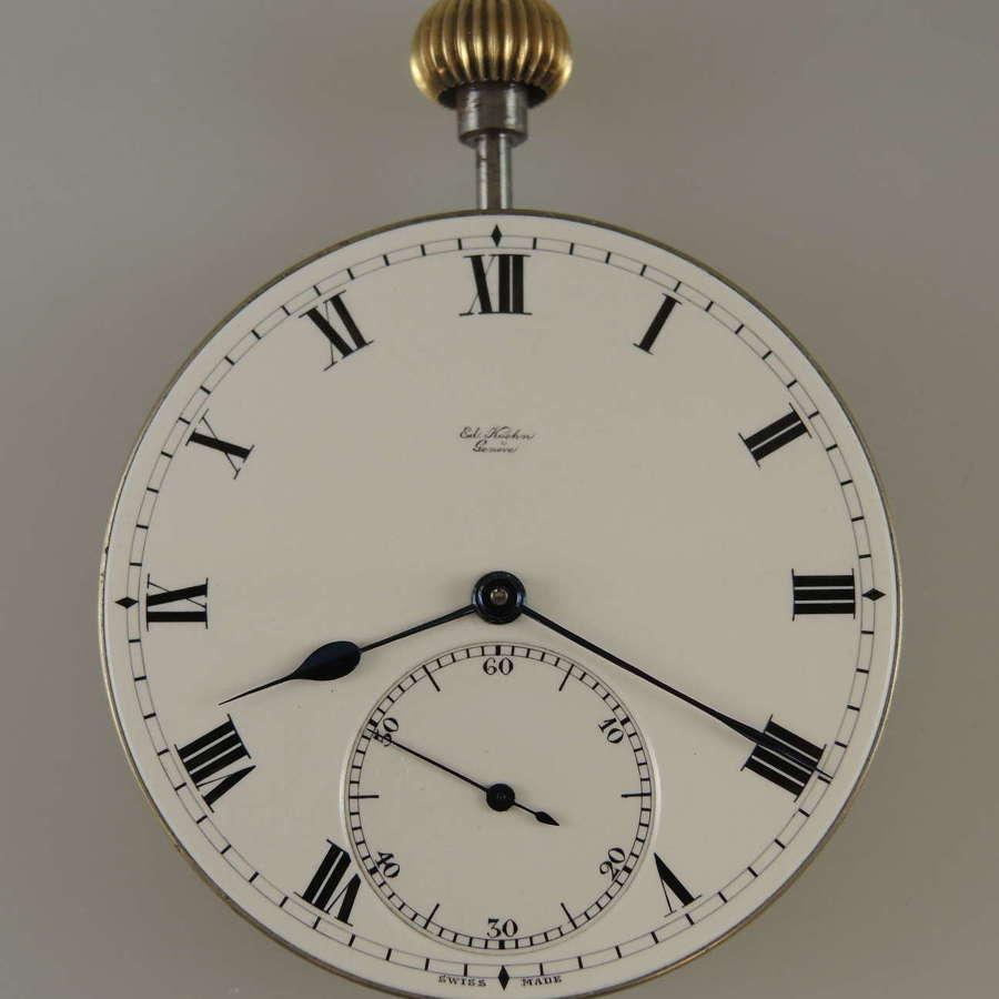 High Quality pocket watch movement by Ed Koehn c1910