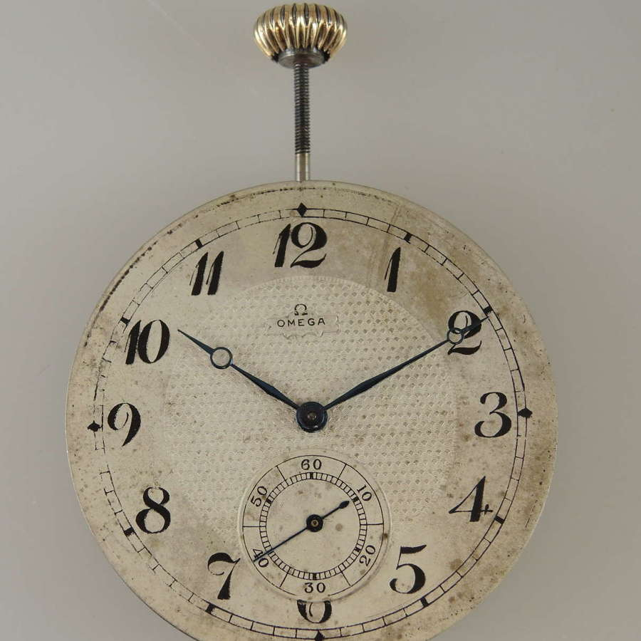 Omega pocket watch movement c1915