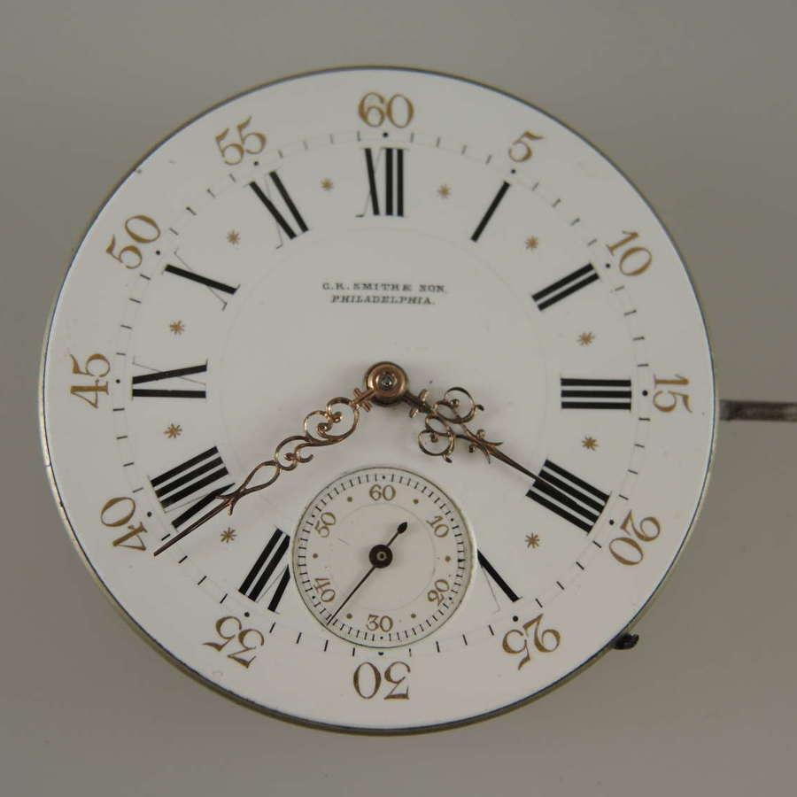 High Quality pocket watch movement by Huguenin & Sons  c1890