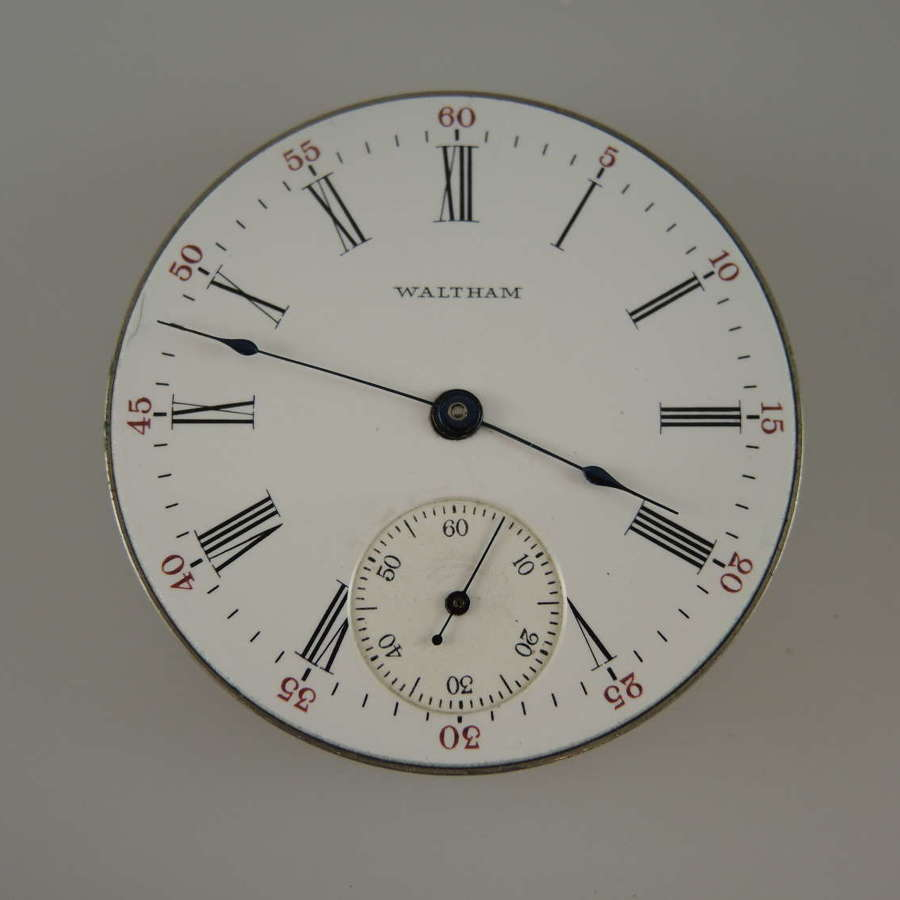 16s 17 Jewel Waltham pocket watch movement c1912