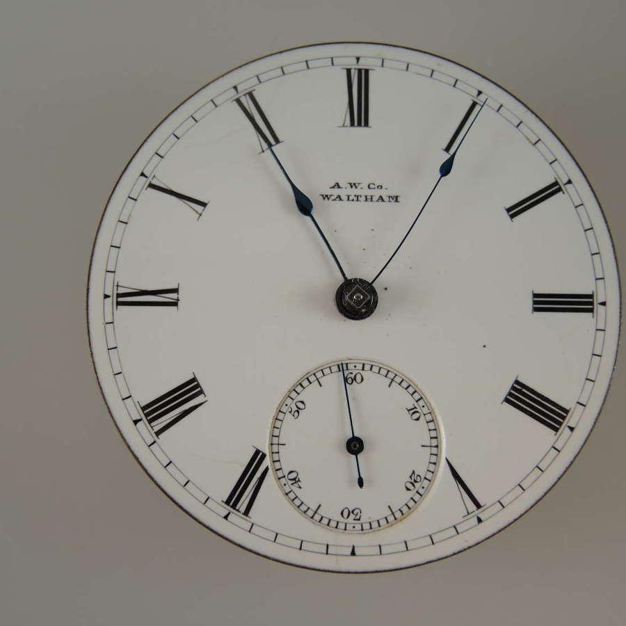 18s 11J Waltham PS Bartlett pocket watch movement. c1880