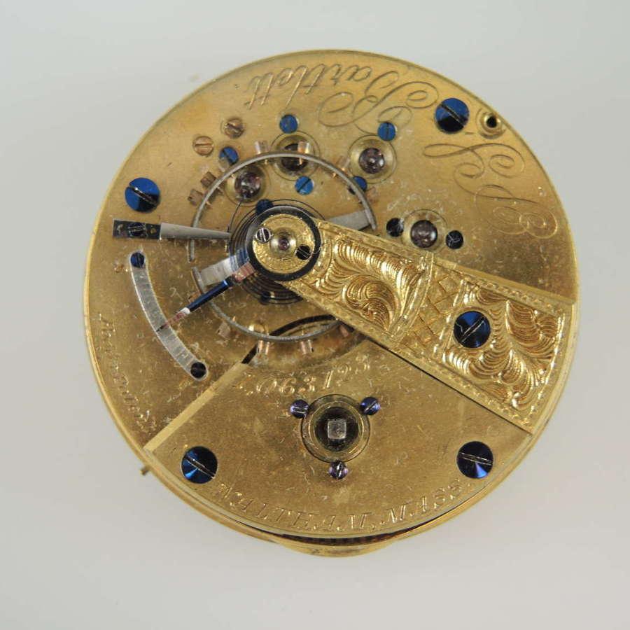18s 11J Waltham M57 PS Bartlett pocket watch movement.  c1878