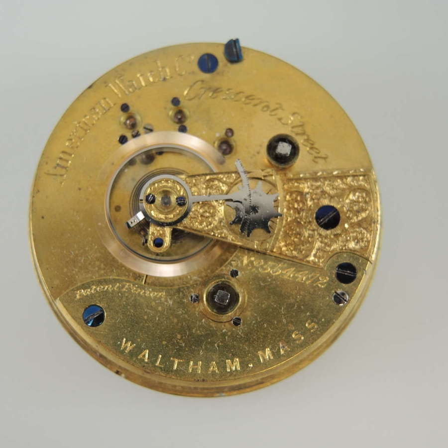 18s 15J Waltham M1870 Crescent St pocket watch movement.  c1878