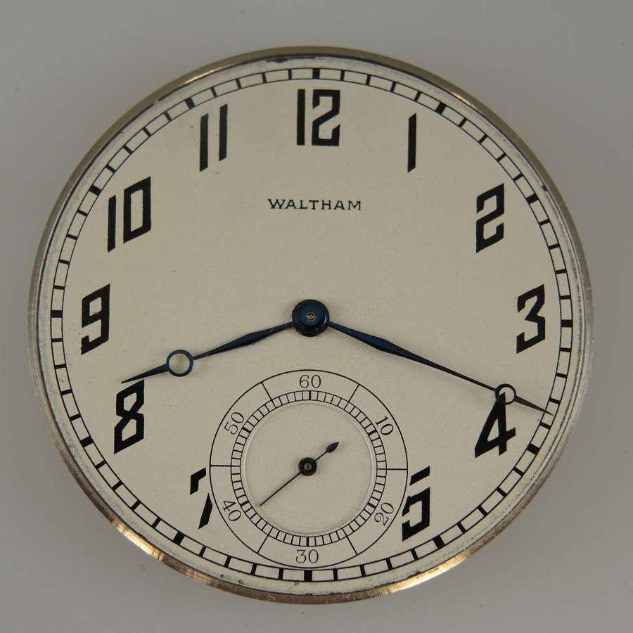 14 size 19 Jewel Waltham Riverside A pocket watch movement c1918