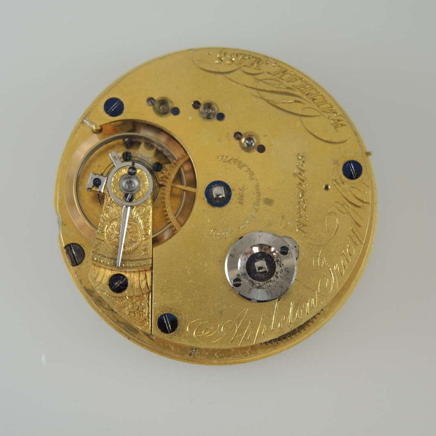 16s 15J Waltham Appleton Tracy & Co pocket watch movement. c1867