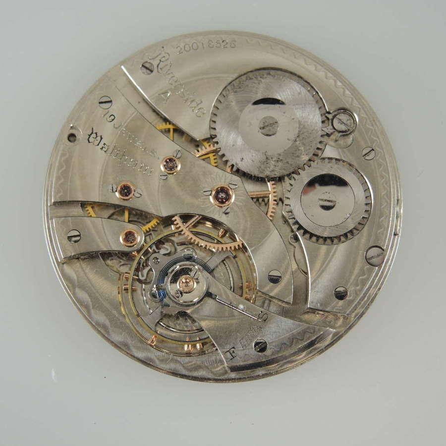 14 size 19 Jewel Waltham Riverside A pocket watch movement c1915